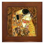 The Kiss/Two Dachshunds Framed Tile