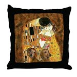 The Kiss/Two Dachshunds Throw Pillow