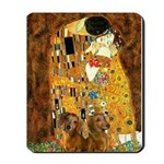 The Kiss/Two Dachshunds Mousepad