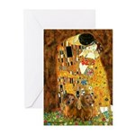 The Kiss/Two Dachshunds Greeting Cards (Pk of 10)