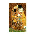 The Kiss/Two Dachshunds Sticker (Rectangle 50 pk)