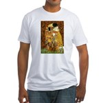 The Kiss/Two Dachshunds Fitted T-Shirt