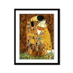 The Kiss/Two Dachshunds Framed Panel Print