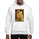 The Kiss/Two Dachshunds Hooded Sweatshirt