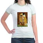 The Kiss/Two Dachshunds Jr. Ringer T-Shirt