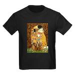 The Kiss/Two Dachshunds Kids Dark T-Shirt