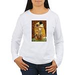 The Kiss/Two Dachshunds Women's Long Sleeve T-Shir