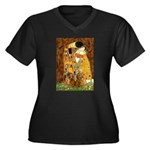 The Kiss/Two Dachshunds Women's Plus Size V-Neck D