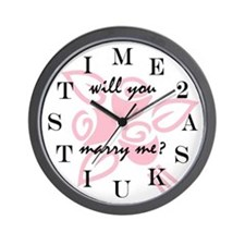 TIME 2 ASK-MARRY ME? Wall Clock
