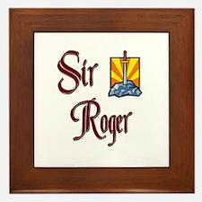 Sir Roger Framed Tile