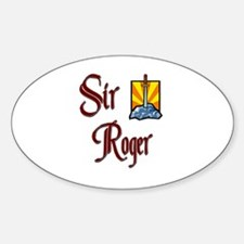 Sir Roger Oval Decal
