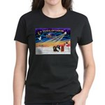 XmasSunrise/3 Cavaliers Women's Dark T-Shirt