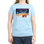 XmasSunrise/3 Cavaliers Women's Light T-Shirt