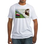 Michelangelo: Pong Fitted T-Shirt