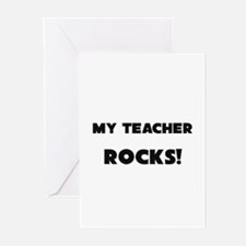 MY Teacher ROCKS! Greeting Cards (Pk of 10)