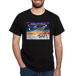 XmasSunrise/4 Chinese Cresteds Dark T-Shirt