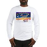 XmasSunrise/4 Chinese Cresteds Long Sleeve T-Shirt