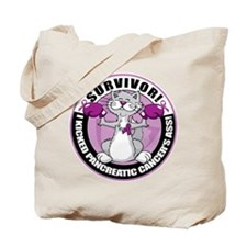 Pancreatic Cancer Survivor Cat Tote Bag