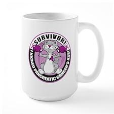 Pancreatic Cancer Survivor Cat Mug