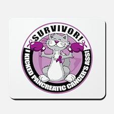 Pancreatic Cancer Survivor Cat Mousepad