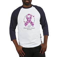 Pancreatic Cancer Butterfly Ribbon Baseball Jersey
