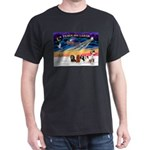 XmasSunrise/5 Cavaliers Dark T-Shirt