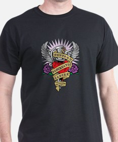 Pancreatic Cancer Dagger Tattoo T-Shirt