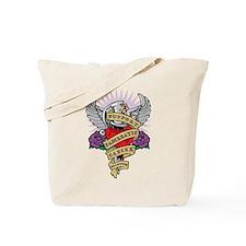 Pancreatic Cancer Dagger Tattoo Tote Bag