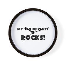MY Taxidermist ROCKS! Wall Clock