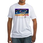 XmasSunrise/American Foxhound Fitted T-Shirt
