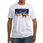 XmasSunrise/Great Dane (bl) Fitted T-Shirt