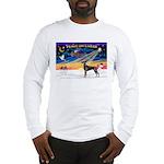 XmasSunrise/Great Dane (bl) Long Sleeve T-Shirt