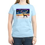 XmasSunrise/Great Dane (bl) Women's Light T-Shirt