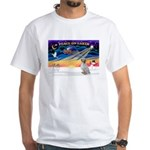 XmasSunrise/English Setter #1 White T-Shirt