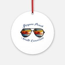 North Carolina - Yaupon Beach Round Ornament