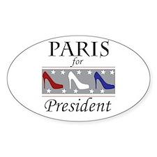 Patriotic Paris Oval Decal