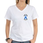 Colon Cancer Survivor Women's V-Neck T-Shirt