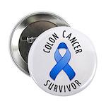 """Colon Cancer Survivor 2.25"""" Button (100 pack)"""