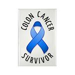 Colon Cancer Survivor Rectangle Magnet