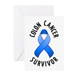 Colon Cancer Survivor Greeting Cards (Pk of 20)