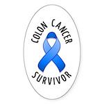 Colon Cancer Survivor Oval Sticker (10 pk)