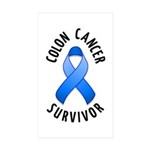 Colon Cancer Survivor Rectangle Sticker 10 pk)