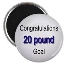 Funny Diet 20 pound goal Magnet