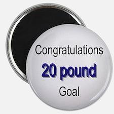 Cute 20 lb goal Magnet