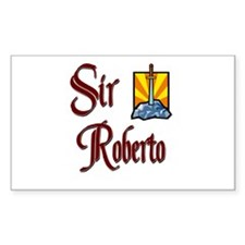 Sir Roberto Rectangle Decal