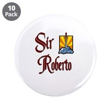 """Sir Roberto 3.5"""" Button (10 pack)"""