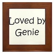 Funny Genie Framed Tile