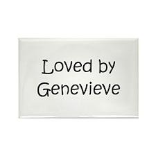 Unique Genevieve Rectangle Magnet