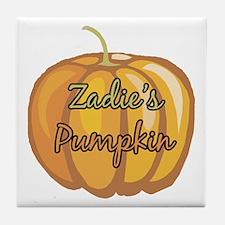Zadie's Pumpkin Tile Coaster
