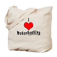 I Love MotorBoating Tote Bag